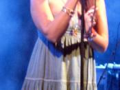 Lily Allen performing in Austin, Texas, United States