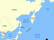 Sea of Okhotsk, Kamchatka and Alaska in the North Pacific