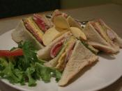 公司三文治 Club Sandwich - New Age HK Cafe