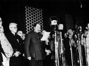 On October 1, 1949 a grand ceremony was witnessed by 300,000 people in Beijing's Tiananmen Square, and Mao Zedong, chairman of the Central People's Government, solemnly proclaimed the founding of the People's Republic of China (PRC).
