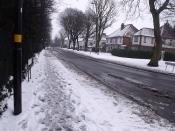 Brook Lane - Billesley - snow - Moseley Golf Club
