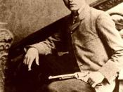 The outlaw Robert Ford, who lived from 1860 to 1892, in an undated photograph by an unknown author reportedly posing with the weapon he used to assassinate Jesse James. It is assumed the image is in the Public Domain in the United States as Ford died in 1