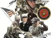 Poster recognizing diversity in the USMC