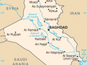Map of Iraq, where Yahya ibn Umar conducted his revolt