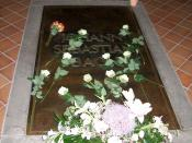 Tomb of Johann Sebastian Bach at St. Thomas Church, Leipzig