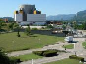 Superphenix, Nuclear power plant of Creys-Malville, Isère, France.