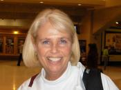 English: Photo of Sharon Fanning-Otis taken at the Conseco Fieldhouse during the NCAA national semifinal.