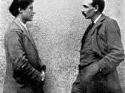 Painter Duncan Grant with Keynes.