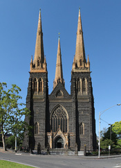 St Patrick's Cathedral Main Entrance & Southwest Facade, Melbourne