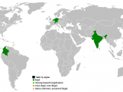 Legality of Euthanasia throughout the world