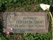 English: The grave of Elizabeth Short, better known as the Black Dahlia, who was murdered in 1947.
