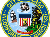 English: Source: http://www.chicagob2b.net/links/pages/CitySeal1.gif This image is a copy of the official seal of the City of Chicago, Illinois, as designed and adopted by the City in 1905. As such, it is a work authored before 1922, and is therefore in t