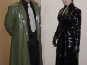 English: User:Spencerian and close friend, dressed as Morpheus and Trinity from the