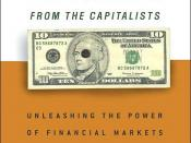 Book cover, Saving Capitalism from the Capitalists (U.S. hardcover edition) by Raghuram Rajan and Luis Zingales (Crown Publishing Group/Crown Business, 2003)