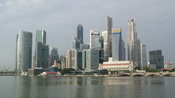 English: A picture of the Singapore Skyline, early in the morning.