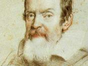 Galileo Galilei. Portrait by Ottavio Leoni. Detail.