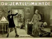 The Strange Case of Dr. Jekyll and Mr. Hyde poster. Converted losslessly from .tif to .png by uploader.