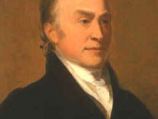 Portrait of John Quincy Adams.