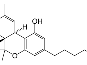 The structural formula of Δ9-tetrahydrocannabinol