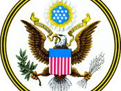 English: The Great Seal of the United States, obverse side. Slovenščina: državni grb ZDA