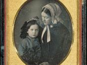 English: Daguerreotype of Lidian (real name: Lydia) Jackson Emerson, wife of Ralph Waldo Emerson, and their son Edward Waldo Emerson. Image courtesy of Harvard University Library.