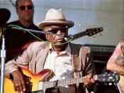 John Lee Hooker at the Long Beach Blues Festival