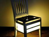 .45 R.P.M. (rounds pre-millennialist)  art chair