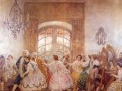 Español: Baile del Santiago (de Chile) antiguo. Oleo de Pedro Subercaseaux