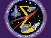 English: Memorial Emblem, Apollo 1, Challenger {Space_Shuttle_Challenger}, Columbia {Space_Shuttle_Columbia}. Source: Columbia Accident Investigation Board Report.