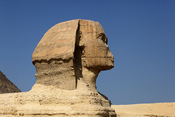 Profile of the Great Sphinx of Giza. Français : Profil du Grand Sphinx de Gizeh.