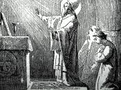 English: Pope Saint Gregory VII saying Mass (inspired by the Holy Spirit)