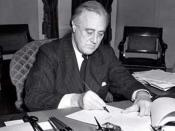 U.S. President Franklin D. Roosevelt signs the Lend-Lease bill to give aid to Britain and China (1941)