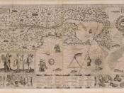 Map of New France, by Samuel de Champlain (1567?-1635): 1612