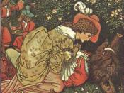Illustration for Beauty and the Beast by Walter Crane