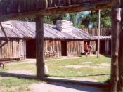 English: Reconstruction of Fort Mandan, Lewis & Clark Expedition, North Dakota