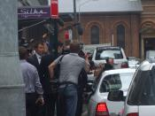 Kevin Rudd enters car