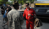"Stephen Colbert arrives at Fort Jackson, S.C., ready to report for basic combat training. He gets off on the wrong foot when he asks his drill sergeant, ""Can I get a bellman?"" See more at Army.mil Political humorist Colbert tackles Basic Combat"