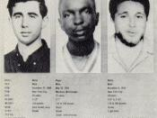 Andrew Goodman, James Chaney, and Michael Schwerner