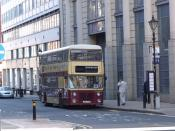 100 years of public transport in Walsall - old bus on Edmund Street.