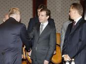 English: MOSCOW. With members of Gazprom's Board of Directors. Русский: МОСКВА. С членами совета директоров компании «Газпром».