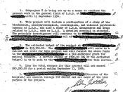 Dr. Sidney Gottlieb approved of an MKULTRA subproject on LSD in this June 9, 1953 letter.