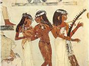 The three musicians, Tomb of Nakht, Thebes