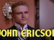 Cropped screenshot of John Ericson from the trailer for the film The Student Prince