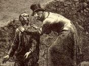 Português: Javert reconhece Valjean quando este sai do esgoto com Marius.