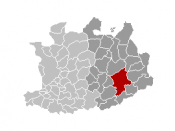 Location of Geel in the province of Antwerp