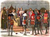 Richard FitzAlan, 11th Earl of Arundel; Thomas of Woodstock, 1st Duke of Gloucester; Thomas de Mowbray, Earl of Nottingham; Thomas de Beauchamp, 12th Earl of Warwick; and Henry, Earl of Derby (later Henry IV), demand Richard II to let them prove by arms t