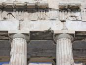 English: Greece, Athens, Parthenon, entablature on western front