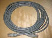 A twisted pair Cat-3 or Cat-5 cable is used to connect 10BASE-T Ethernet