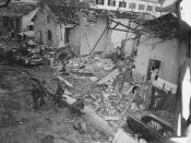 At 5:55 p.m. on December 24, 1964, Viet Cong terrorists exploded a bomb in the garage area underneath the Brinks Hotel in Saigon, South Vietnam. The hotel, housing 125 military and civilian guests, was being used as officers' billets for U.S. Armed Forces