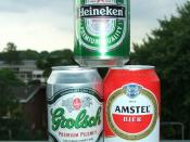 English: 330ml cans of beer from Amstel, Grolsch and Heineken Deutsch: 330ml Dosen der Biermarken Amstel, Grolsch und Heineken